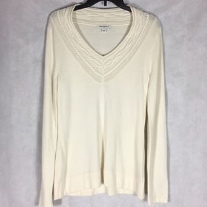 Banana republic Cream colored sweater size large